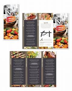 new cafe deli take out tri fold menu template With 3 fold menu template