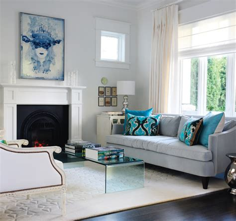 blue velvet sofa contemporary living room benjamin white style at home