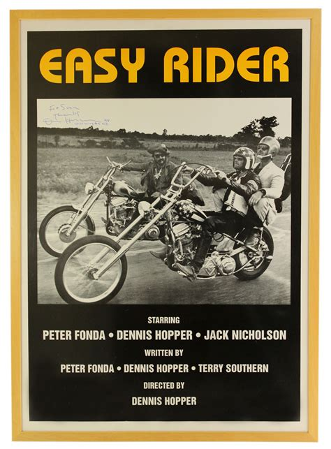 dennis hopper signed easy rider poster chairish