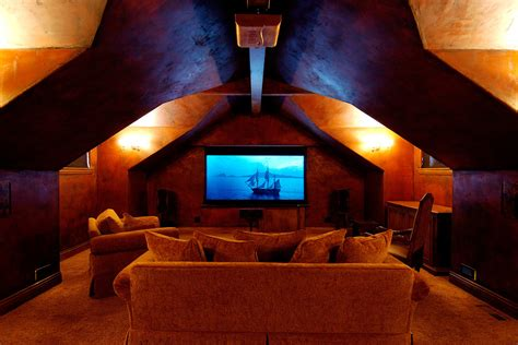 basement  theater home theater traditional