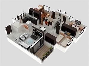 3 BHK Apartment 3D Interior Design by Zero Designs