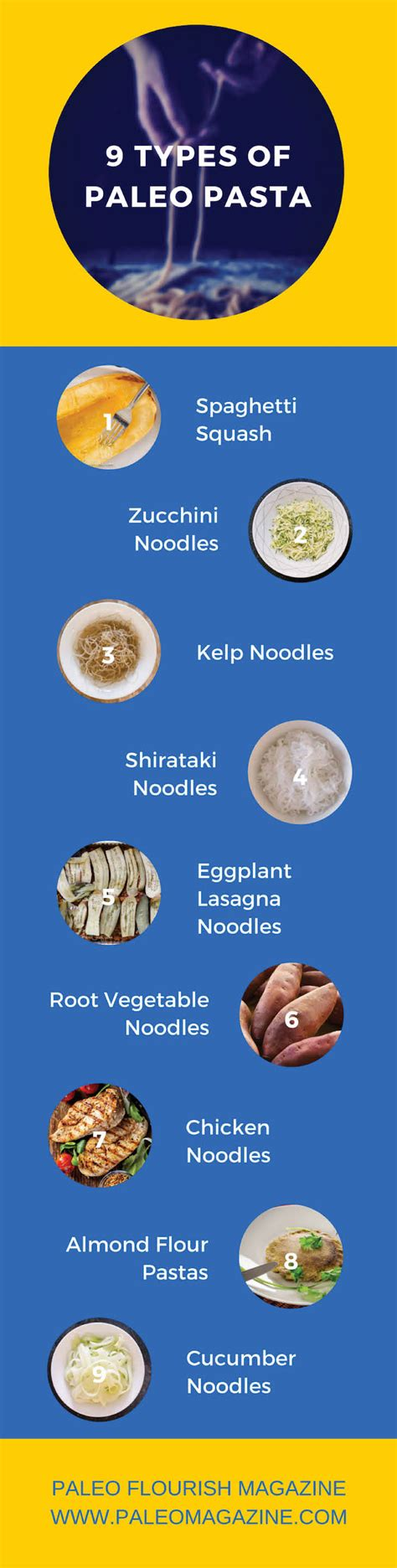 "9 Types Of Paleo ""pasta"" [how To Make, Recipes, + Infographic]"
