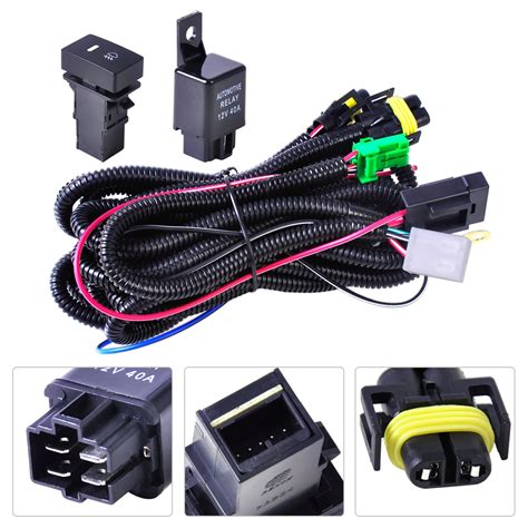 Hd Headlight Wiring Harnes by New Wiring Harness Sockets Wire Switch Set For H11 Fog