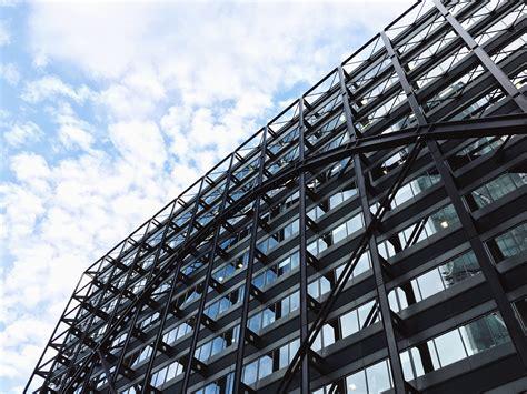 image libre batiment construction metal verre facade