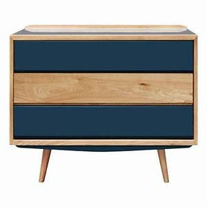 Commode Bleu Canard : pouf stool ch ne et laiton velours bleu canard red edition ~ Teatrodelosmanantiales.com Idées de Décoration