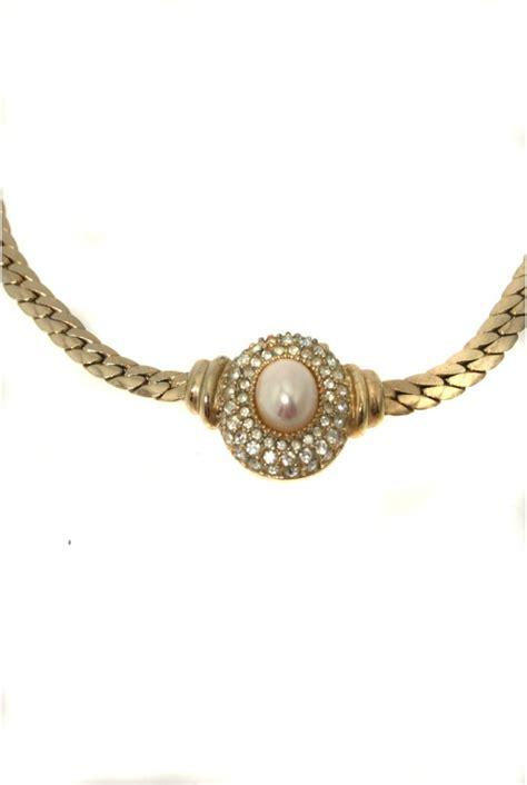 vintage dior pearl necklace christian dior necklace