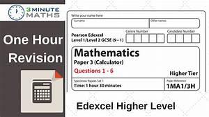 3 Minute Maths - Edexcel Practice Papers