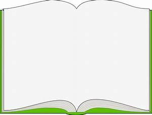 Green Open Book Clip Art at Clker.com - vector clip art ...