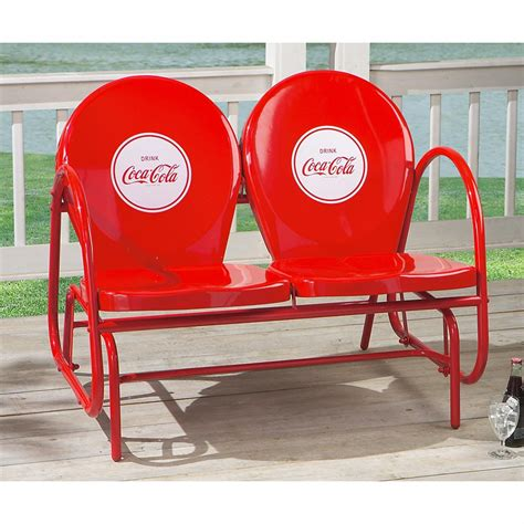 Coca  Cola® Double Glider  138512, Patio Furniture At