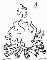 Coloring Campfire Popular sketch template
