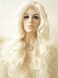 Hair Texture Chart Wavy Pure White Color Synthetic Hair Lace Front Wig