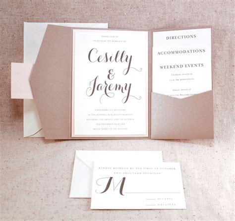 wedding invitation set sophisticated elegance