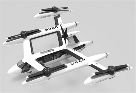 Futuristic Uber Flying Car Concept For Aerial Taxi Service
