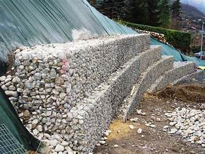 Mur En Gabion : mur en gabion amenagements paysagers giraudon travaux ~ Premium-room.com Idées de Décoration
