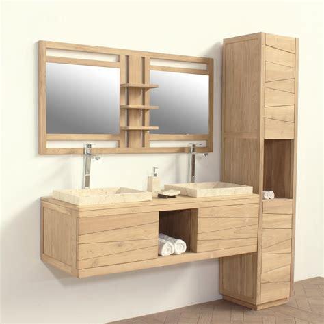 armoire de bureau design meuble salle de bain ylan en teck recycle certifie fsc