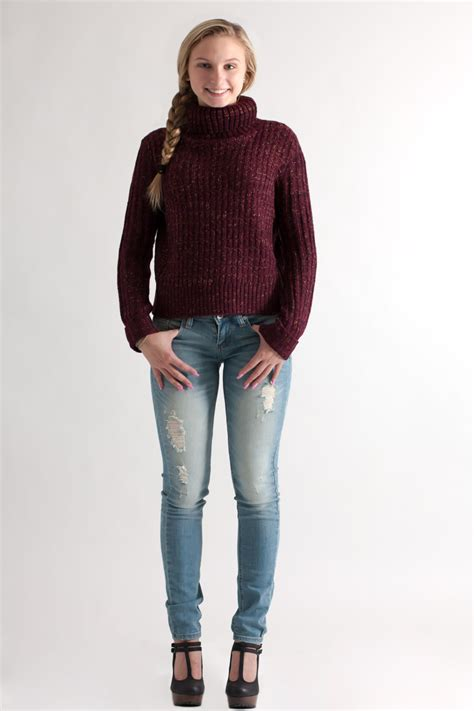 turtleneck crop sweater she and sky cropped turtleneck sweater