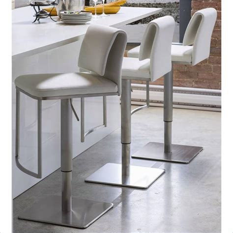 Modern & contemporary counter & bar stools from room & board. 35 Stylish Modern Adjustable White Leather Bar Stools