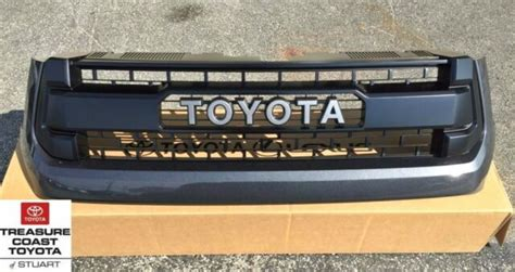 oem toyota tundra   trd pro grille magnetic gray  ebay