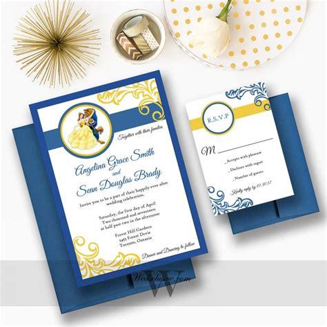beauty   beast wedding invitations disney weddings