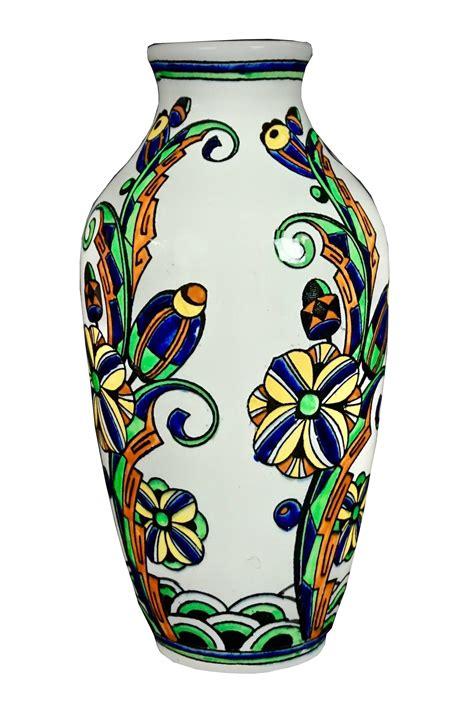 deco vase monumental charles catteau deco vase bfk d1081 f782