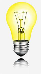 The Yellow Light Bulb Diagram  Light Bulb  Light  Yellow