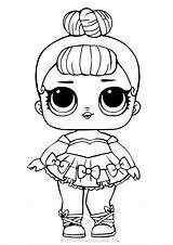 Lol Coloring Dolls Pages Doll Baby Painting Glitter sketch template