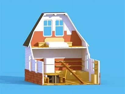 Construction Estimation Builders Cost Dribbble Building 3d