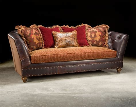 leather and fabric sofa fabric and leather tufted sofa