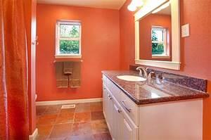 Salle De Bain Orange : stunning salle de bain orange et blanc contemporary ~ Preciouscoupons.com Idées de Décoration
