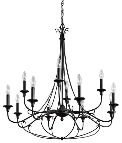 Lodge Chandeliers by Kichler Lighting 43455dbk Basel Lodge Country Rustic
