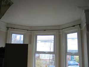 bay window wooden curtain pole curtain design