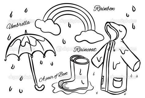 Rain Clothes Clip Art Black And White
