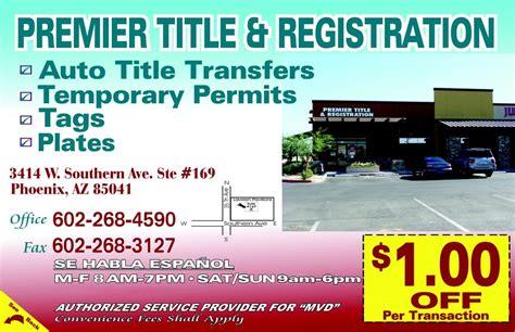 arizona dmv phone number premier title and registration departments of motor