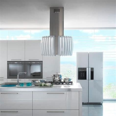 kitchen island extractor hoods quot pearl white quot by futuro futuro designer glass island range hood contemporary extractor
