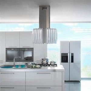 Quotpearl whitequot by futuro futuro designer glass island for Kitchen island hood