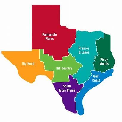 Texas Regions Map Places Visit Region Things