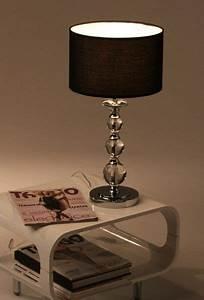 Wohnen Und Accessoires : tischleuchte tischlampe nachttischlampe acrylglas chrom ebay ~ Yasmunasinghe.com Haus und Dekorationen
