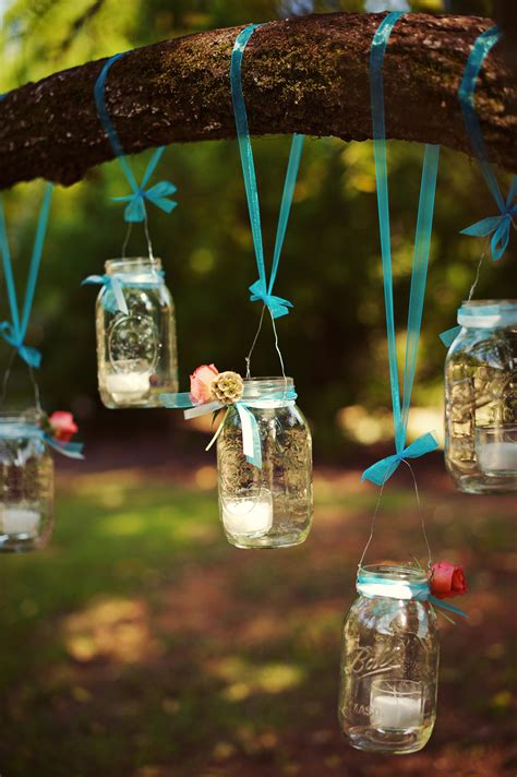 simple diy mason jar candle holders hanging trees for