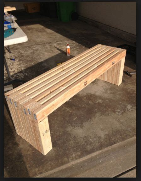 diy  bench garden benches pinterest benches fun