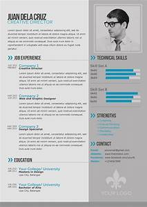Free modern and simple resume cv psd template thetotobox for Free resume layout templates