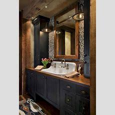 25+ Best Rustic Bathroom Decor Ideas On Pinterest Half