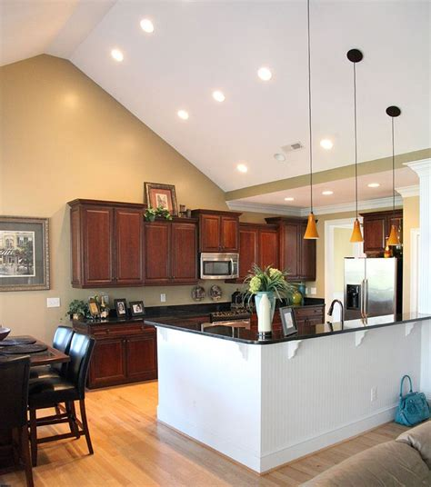 kitchen lighting ideas vaulted ceiling 9 best vaulted ceiling lights images on 8340