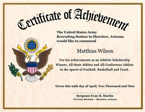certificate  achievement wording planner template