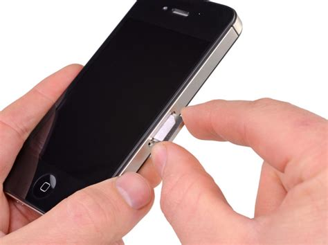 iphone 4 sim card removal iphone 4s sim card replacement ifixit