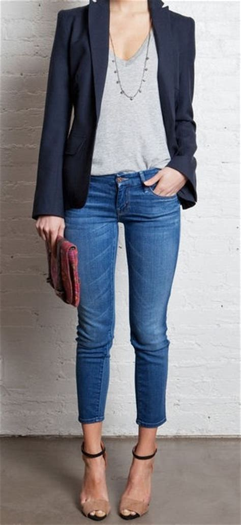 Love this for a casual night out!   Outfits   Pinterest   Night Out Casual and Blazers