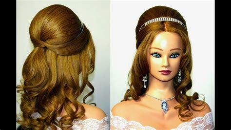 wedding prom hairstyle for medium long hair youtube