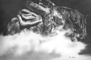 Western Horse Pencil Drawings