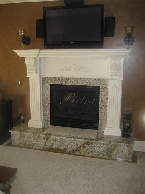 granite fireplace mantel decorating ideas pinterest
