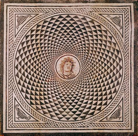mosiac floor mosaic floor with head of medusa getty museum