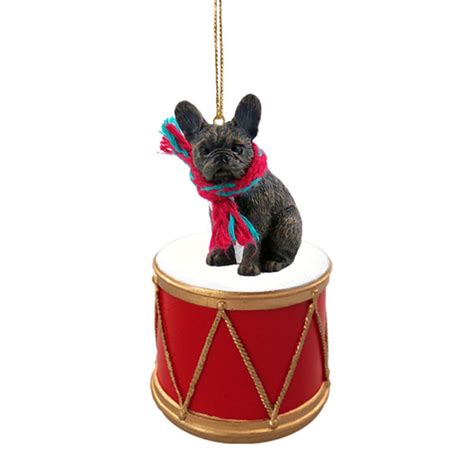addorable french bulldog christmas ornaments stockings